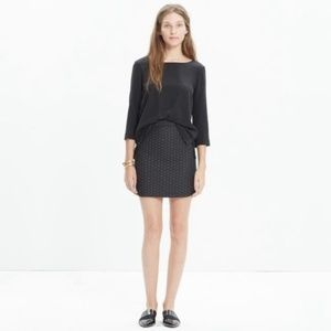 MADEWELL shirttail metallic dot mini skirt 2